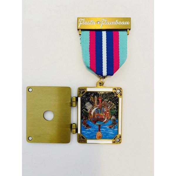 Official Fiesta Flambeau Parade 2021 Medal