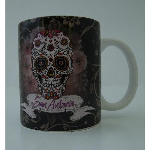 San Antonio Sugar Skull Mug-20