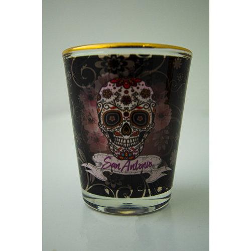Sugar Skull Shot Glass 1oz-20