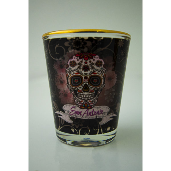 Sugar Skull Shot Glass 1oz-20