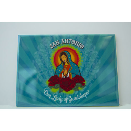 Our lady of Guadalupe Square Magnet-20