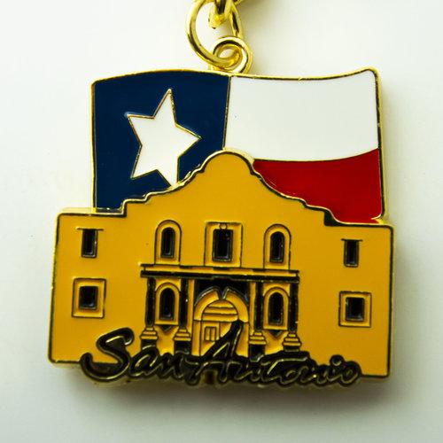 Texas Flag and Alamo Keychain -20