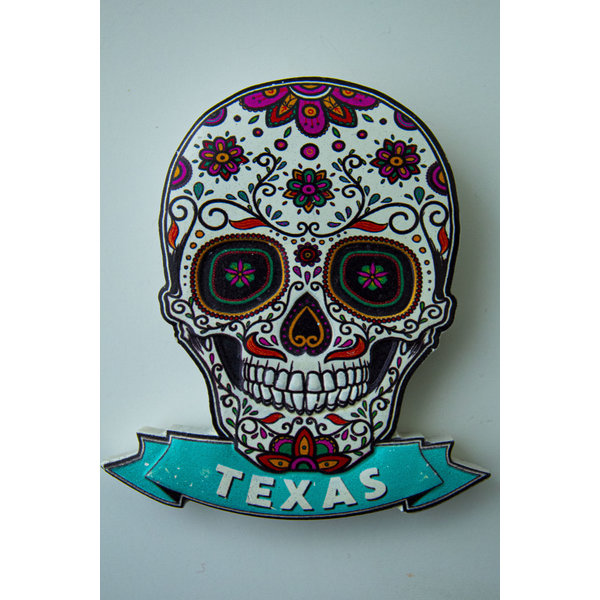 Sugar Skull Magnet Texas-20