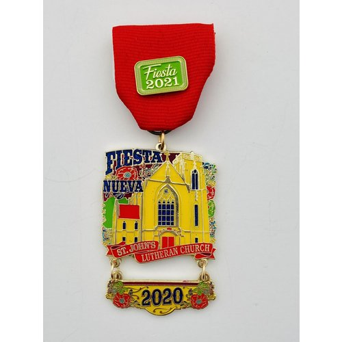 #22 St. Johns Lutheran Church Fiesta Nueva-2021 Medal