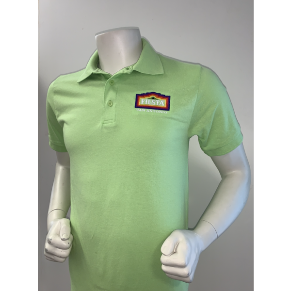 2021 Official Poster Polo Men's Lime - Large