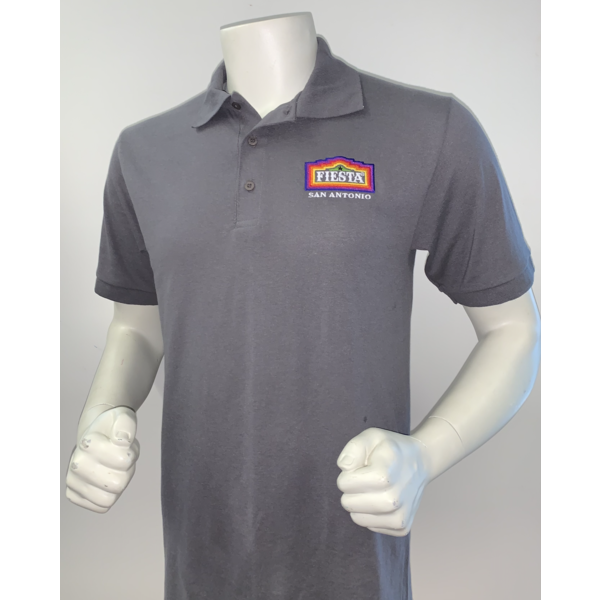 2021 Official Poster Polo Men's Grey - 3X-Large