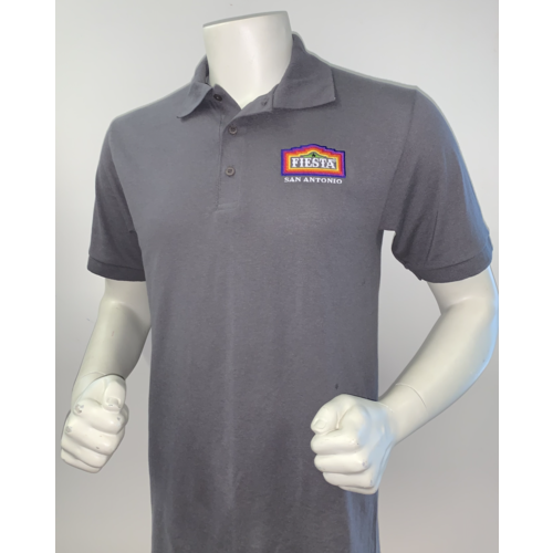 2021 Official Poster Polo Men's Grey - 2X-Large