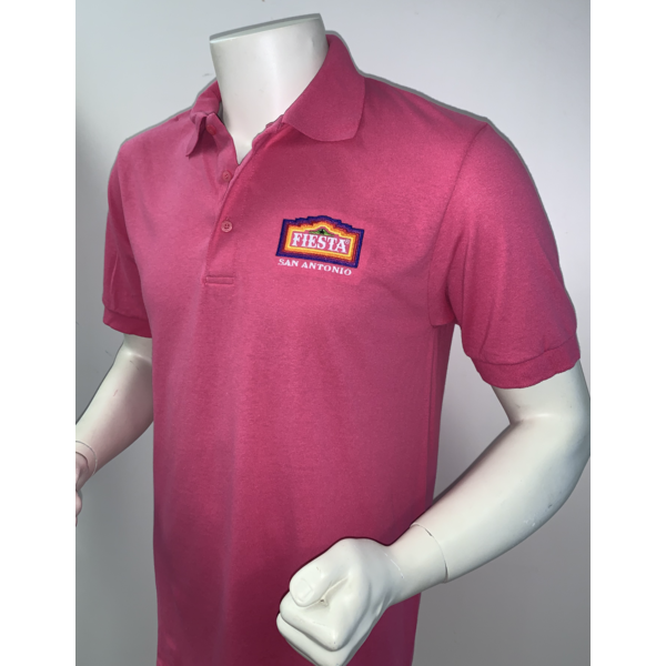 2021 Official Poster Polo Men's Pink - 3X-Large