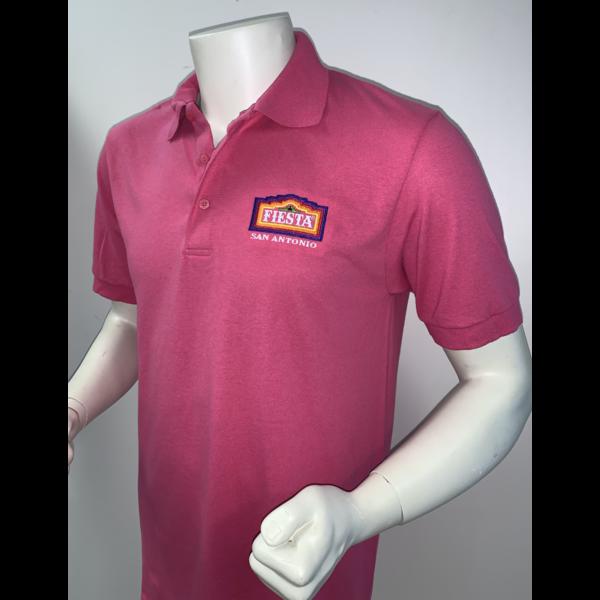 2021 Official Poster Polo Men's Pink - Medium