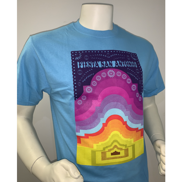 2021 Official Poster Tee Aquatic Blue - X-Large