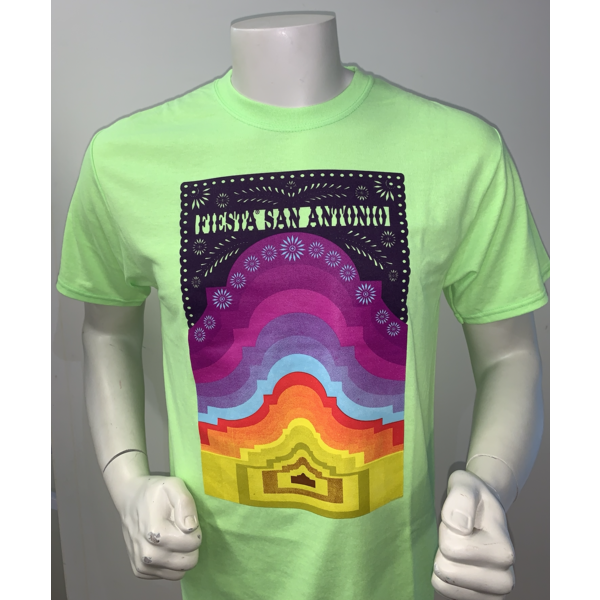 2021 Official Poster Tee Neon Green - Large
