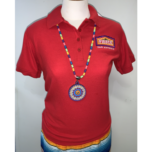 2021 Official Poster Polo Women's Red - Medium