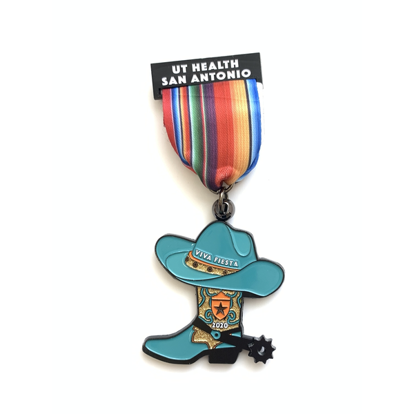 U.T. Health San Antonio His/Her Boot Medal - 2020