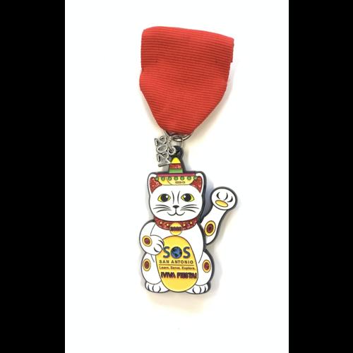 SOS- Summer of Service Lucky Cat- Medal 2021