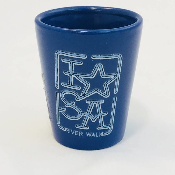 SA Blue Shot Glass