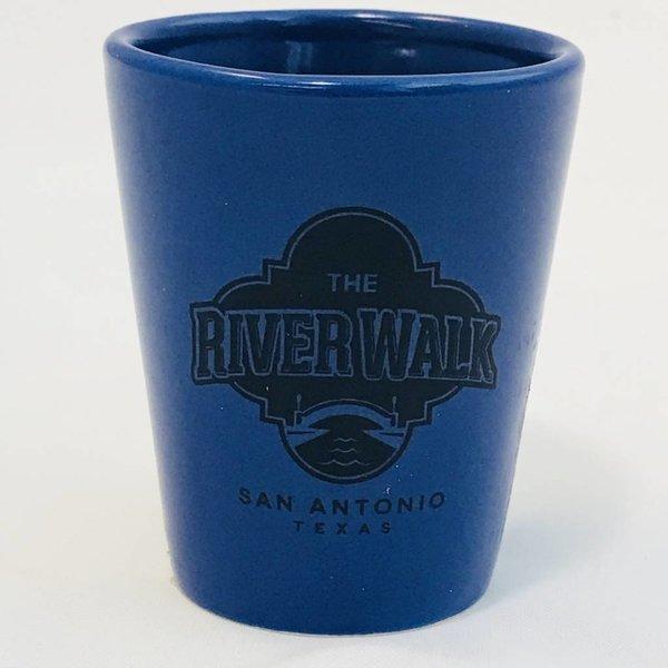 SA Blue Shot Glass