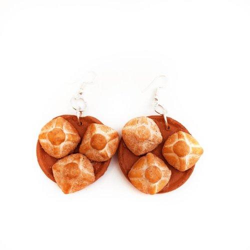 Ceramic Platter Earring- Pan de Ojo