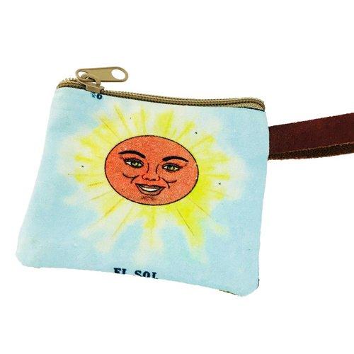 Loteria Coin Purse- El Sol