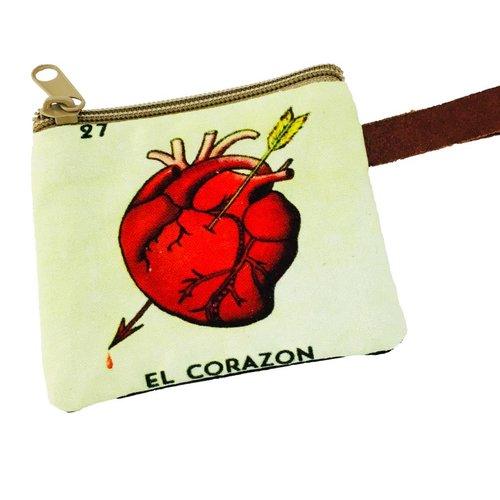 Loteria Coin Purse-El Corazon