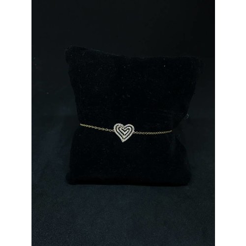 Amour 18k Rose Gold 0.25ct Diamond Heart Bracelet
