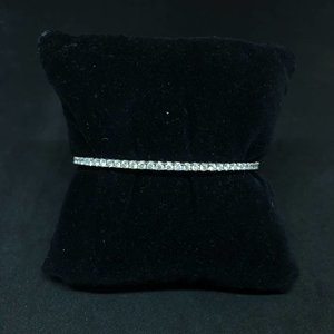 Amour 14k White Gold 1.50ct Diamond Bangle