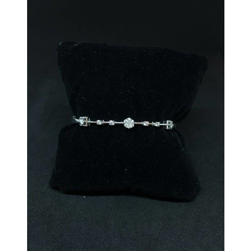 Amour 14k White Gold 0.50ct Diamond Bangle