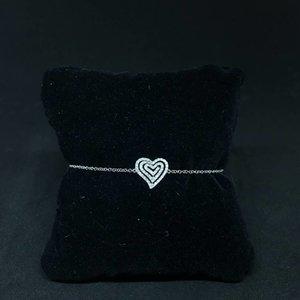 Amour 18k White Gold 0.25ct Heart Bracelet