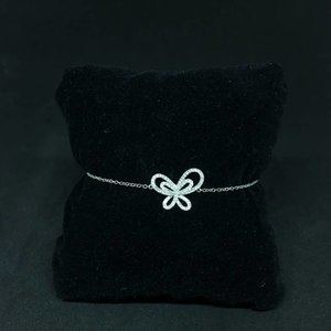 Amour 18k White Gold 0.32ct Diamond Butterfly Bracelet