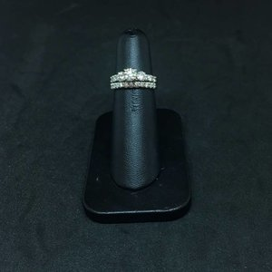 Amour 14k White Gold 1.37ct Wedding Set