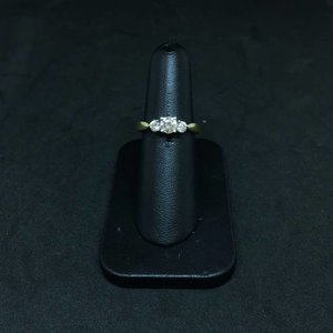 Amour 14k Yellow Gold 0.75ct Engagement Ring