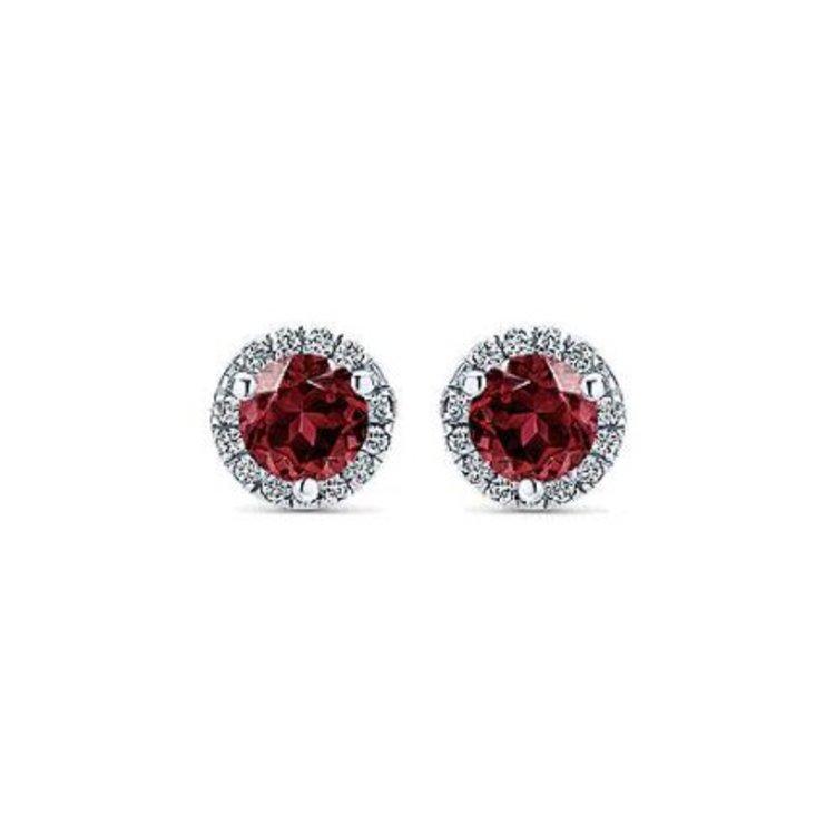 61645cf7d Gabriel & Co. C$485.00. 1 in stock. Gabriel & Co. Lusso Collection Stud  Earrings EG12372W45GN 14k White Gold