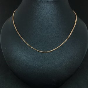 "Amour 14k Rose Gold 18"" Classic Round Snake Link Chain"
