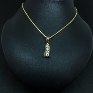 Amour 14k Yellow Gold 0.50ct Pendant