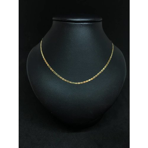 "Amour 18""18k Yellow Gold Mariner Link Chain"
