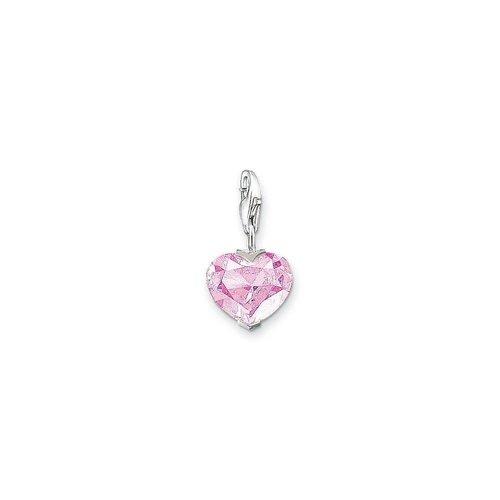 Thomas Sabo Pink CZ Heart Charm