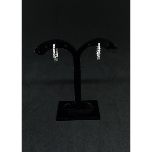 Amour 14k White Gold 0.75ct Hoops Earrings