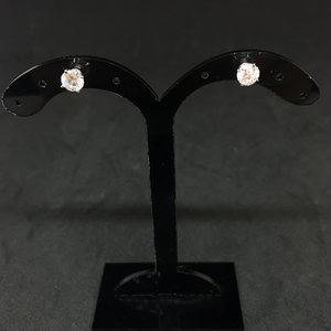 Amour 14k White Gold 1.00ct Solitaire Studs