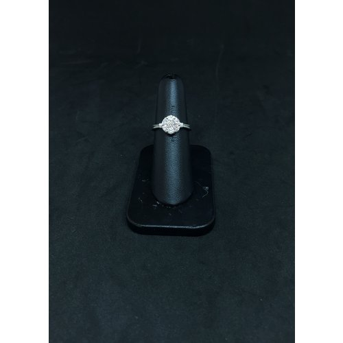 Amour 14k White Gold 0.75ct Engagement Ring