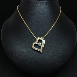 Amour 10k Yellow Gold 0.50ct Pendant