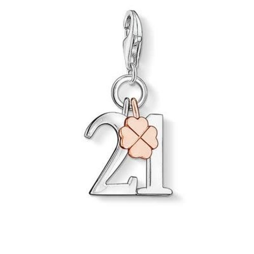 Thomas Sabo Lucky #21 Rose Gold Clover Charm