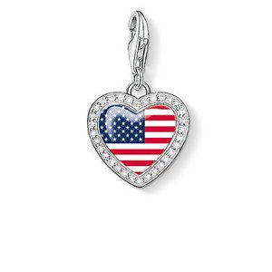 Thomas Sabo Heart USA Flag Charm