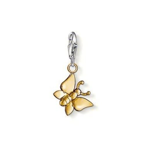 Thomas Sabo Yellow Gold Butterfly Charm