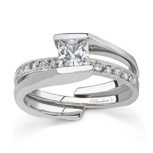 Barkev's 7154S Wedding Set
