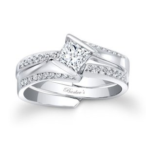 Barkev's 7880S Wedding Set