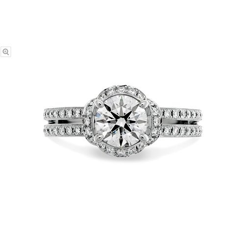 Hearts On Fire Optima Double Row Engagement Ring