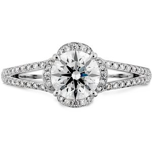 Hearts On Fire Lorelei Split Shank Engagement Ring