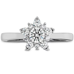 Hearts On Fire Aerial Cluster Engagement Ring