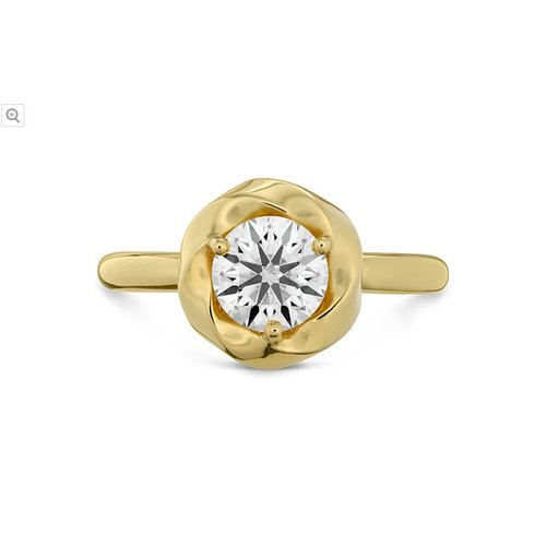 Hearts On Fire Atlantico Wave Halo Solitaire Engagement Ring