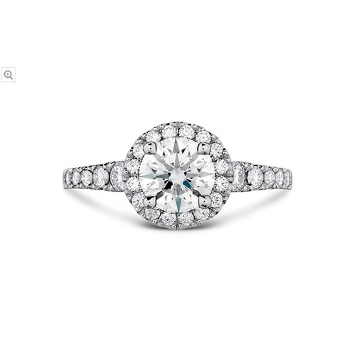 Hearts On Fire Transcend Premier Halo Engagement Ring