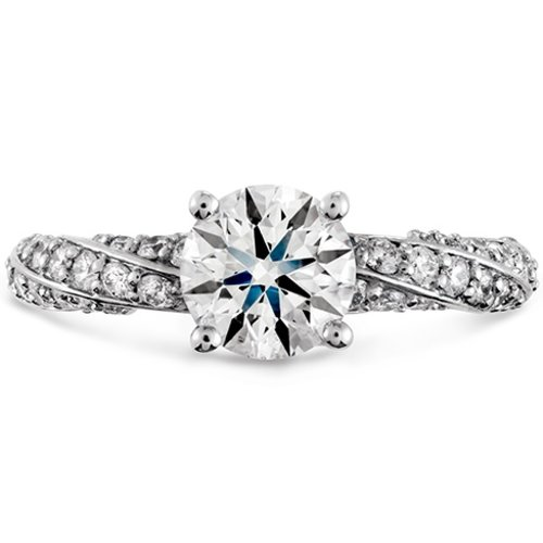 Hearts On Fire Atlantico Pave Engagement Ring